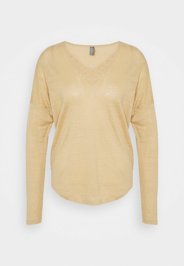 ANGLA BATWING - T-shirt à manches longues - warm sand