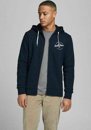 Hoodie met rits - navy blazer