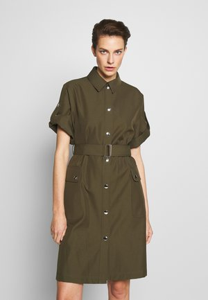 PALOMA DRESS - Shirt dress - dark green