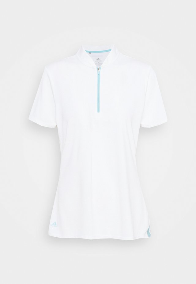 HEAT.RDY ZIP SHORT SLEEVE - Triko s potiskem - white
