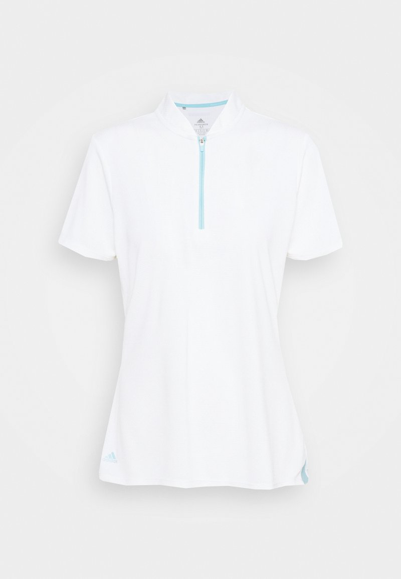 adidas Golf - HEAT.RDY ZIP SHORT SLEEVE - Triko s potiskem - white