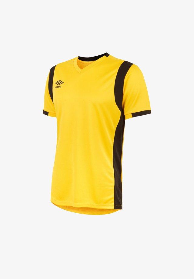 Print T-shirt - gelbschwarz