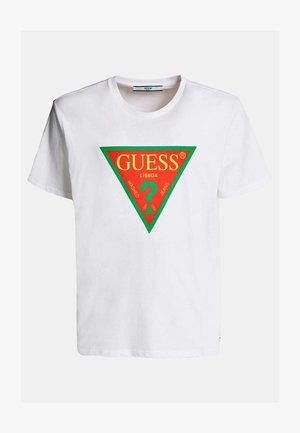 GUESS T-SHIRT LISSABON LOGO - T-shirt con stampa - mehrfarbig, weiß