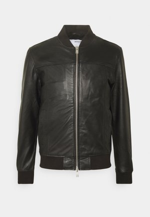 SLHKANE - Leather jacket - black