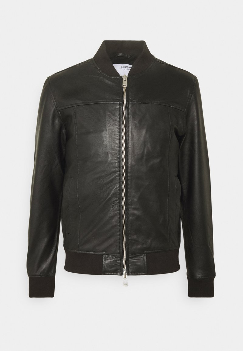 Selected Homme - SLHKANE - Leather jacket - black