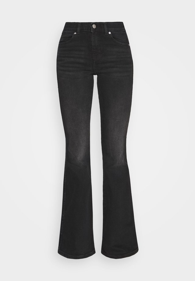 MACY - Flared Jeans - black mist
