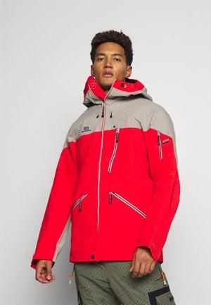 MENS BACKSIDE JACKET - Veste de ski - red