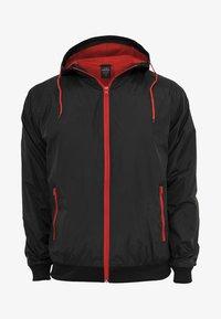 Urban Classics - Light jacket - black/red - 3