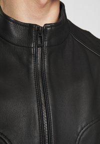 HUGO - LONOS - Leather jacket - black - 5