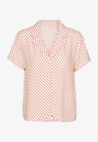 JDY - STARR LIFE - Button-down blouse - sandshell/etruscan red - 2