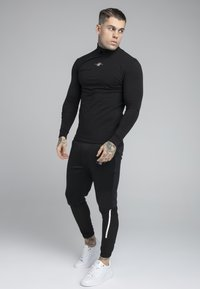 SIKSILK - SIKSILK TRANQUIL TURTLE NECK TEE - Longsleeve - black - 1