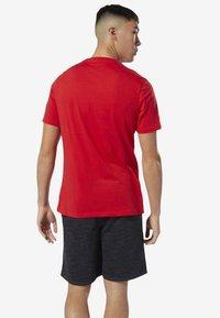 Reebok - UFC FAN GEAR LOGO TEE - Print T-shirt - red - 1