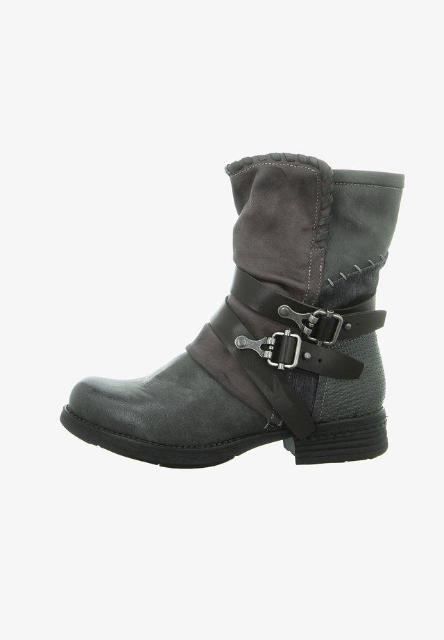 Cowboy/Biker boots - dk grey