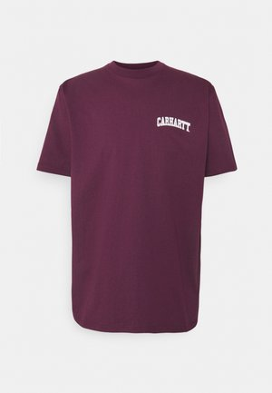 UNIVERSITY SCRIPT - Print T-shirt - shiraz/white