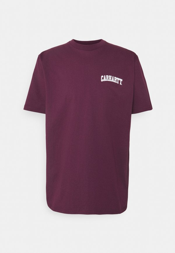 Carhartt WIP UNIVERSITY SCRIPT - T-shirt z nadrukiem - shiraz/white/bordowy Odzież Męska CION