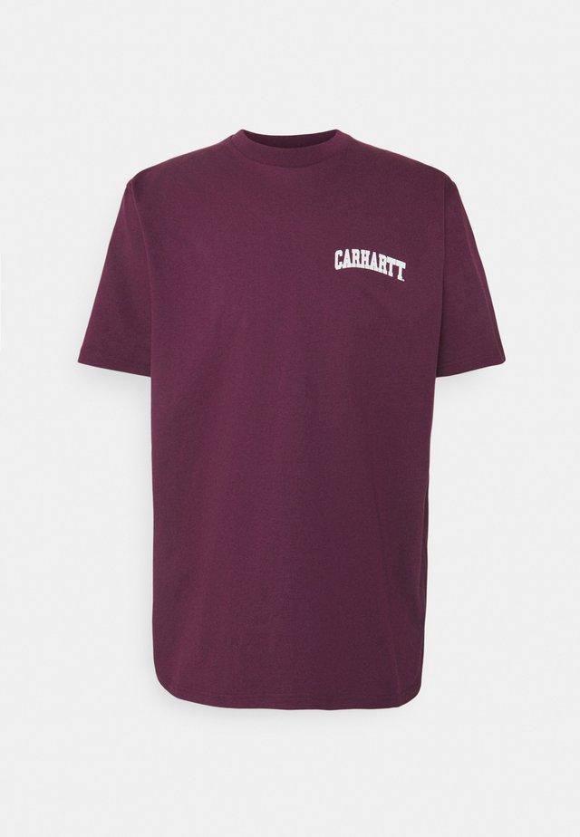 UNIVERSITY SCRIPT - T-shirt print - shiraz/white