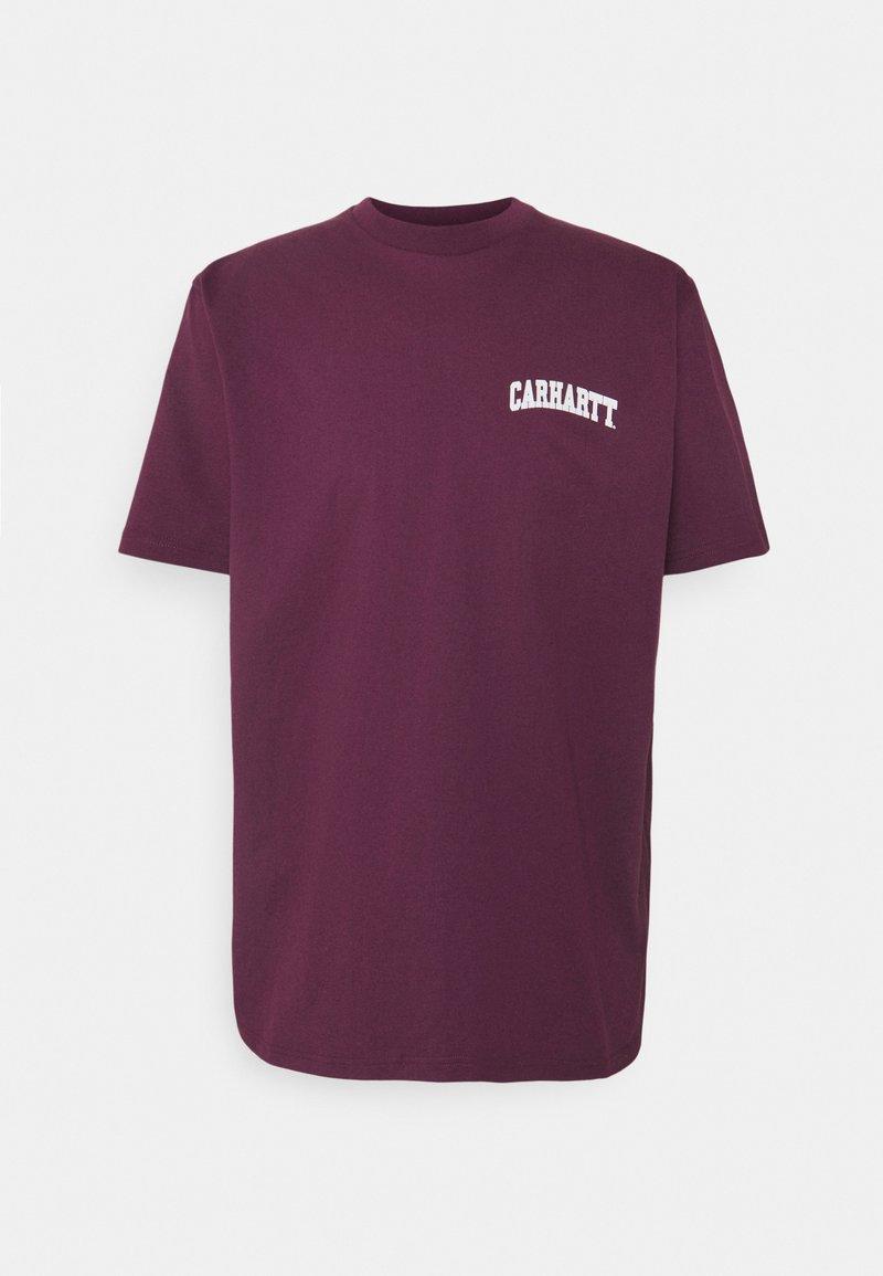 Carhartt WIP - UNIVERSITY SCRIPT - Print T-shirt - shiraz/white