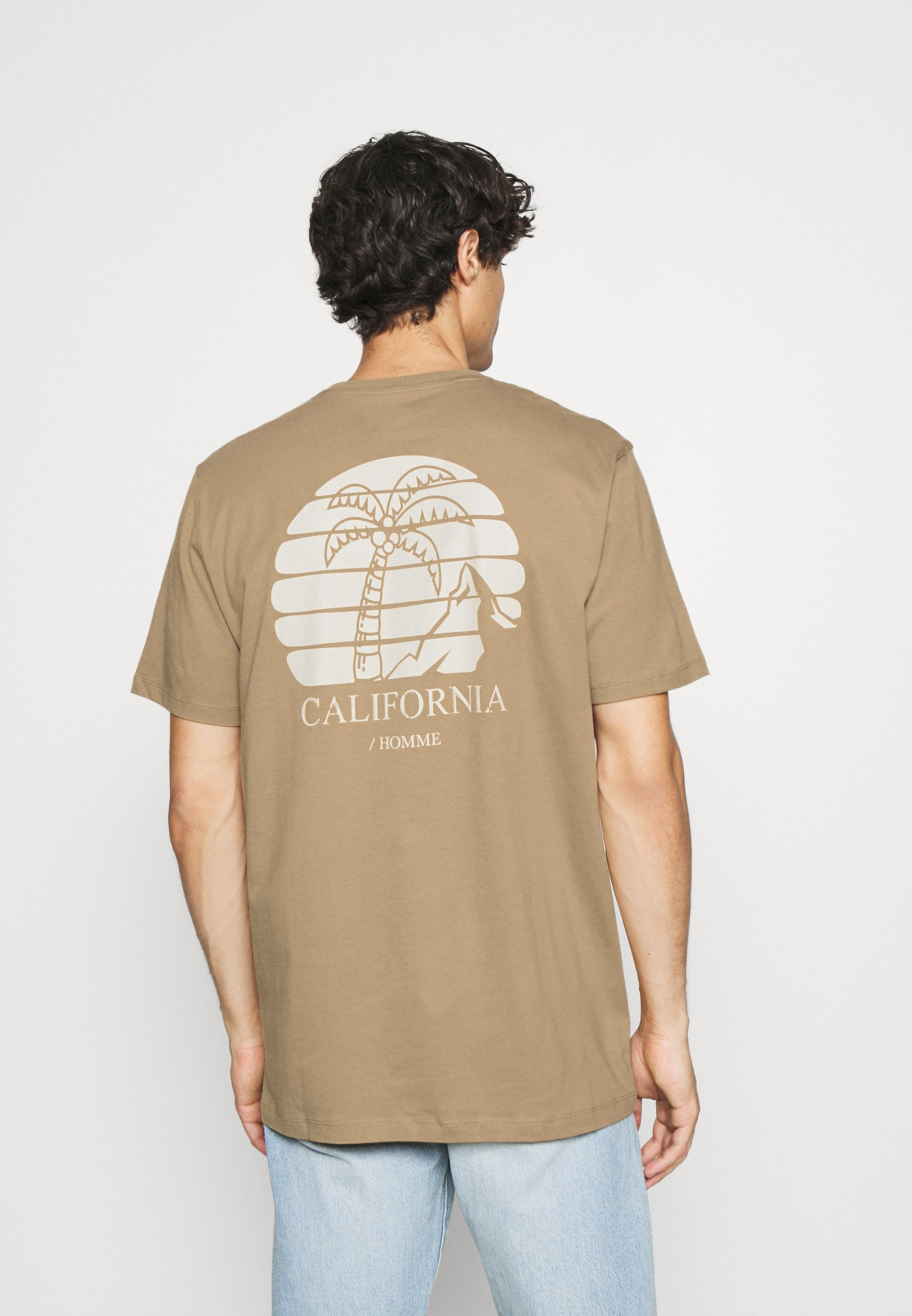 Men SLHRELAXEDMILO ONECK TEE - Print T-shirt