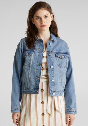 JEANS-JACKE IM OVERSIZE-LOOK - Jeansjacka - blue medium washed