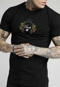 SIKSILK - T-shirt con stampa - black - 2