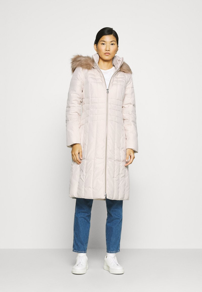 Calvin Klein - ESSENTIAL COAT - Winter coat - white smoke