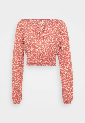 ONLPELLA BOW - Blouse - mineral red