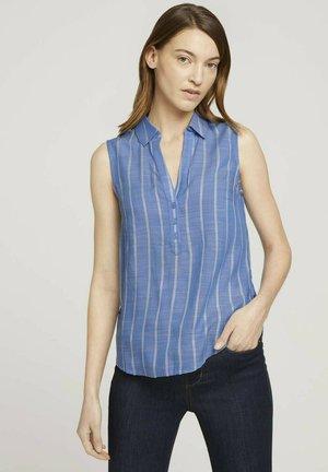 ÄRMELLOSE MIT STREIFEN - Blouse - blue stripe vertical