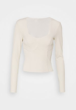 VINNIE  - Long sleeved top - white dusty light