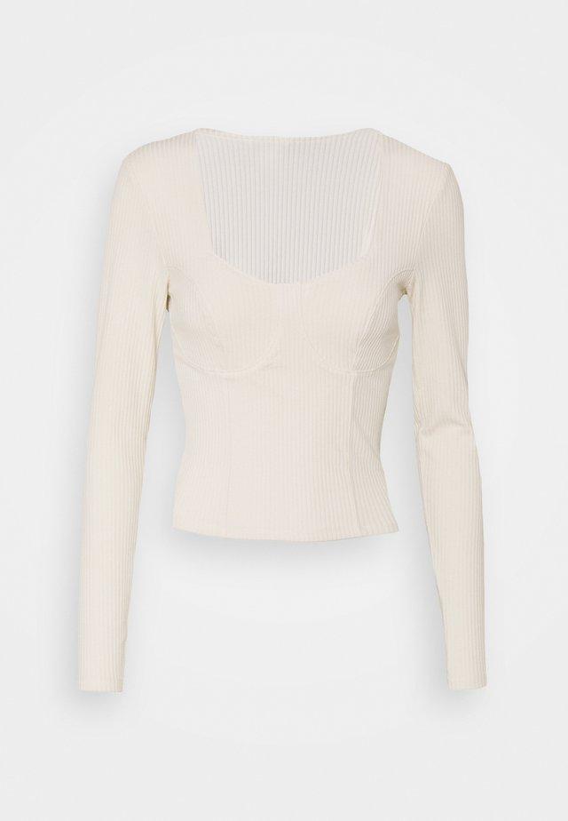 VINNIE  - Bluzka z długim rękawem - white dusty light