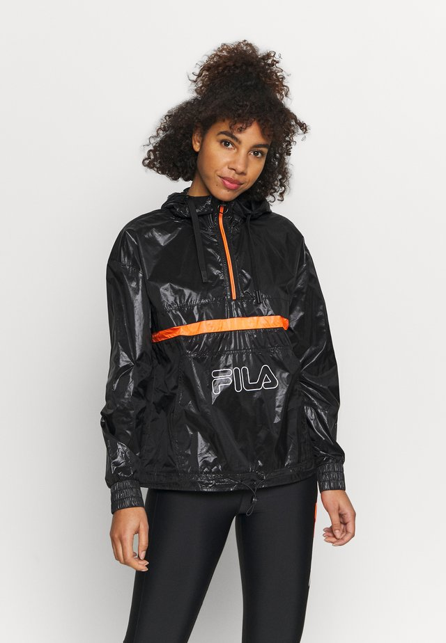 ALDINA  - Windbreaker - black iris/orange clown fish