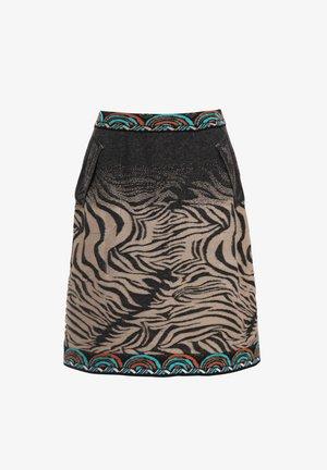 ANIMAL PATTERN - Áčková sukně - black