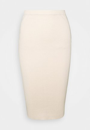 KNITTED MIDAXI SKIRT - Pencil skirt - sand