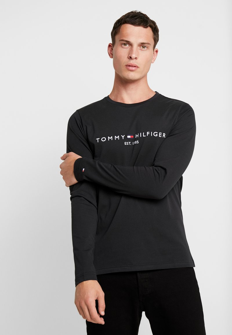 Tommy Hilfiger - LONG SLEEVE LOGO - Long sleeved top - black