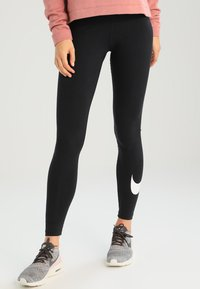 Nike Sportswear - CLUB LOGO - Leggings - Hosen - black - 0
