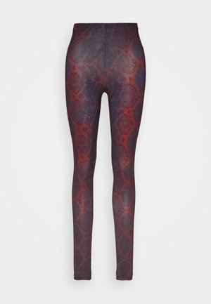 ONLARIA LONG - Leggings - Trousers - bordeaux