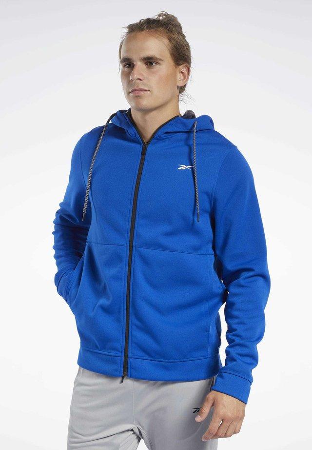 WORKOUT READY HOODIE - Zip-up hoodie - blue