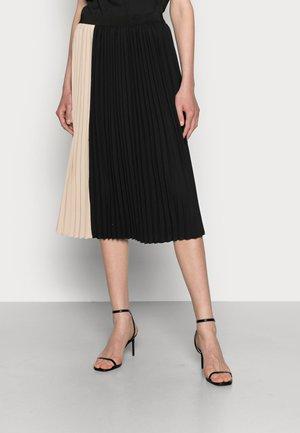 CUBETTY SKIRT - Pleated skirt - black