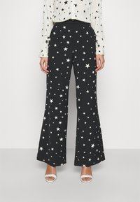 Fabienne Chapot - PUCK TROUSER - Trousers - black/warm white - 0