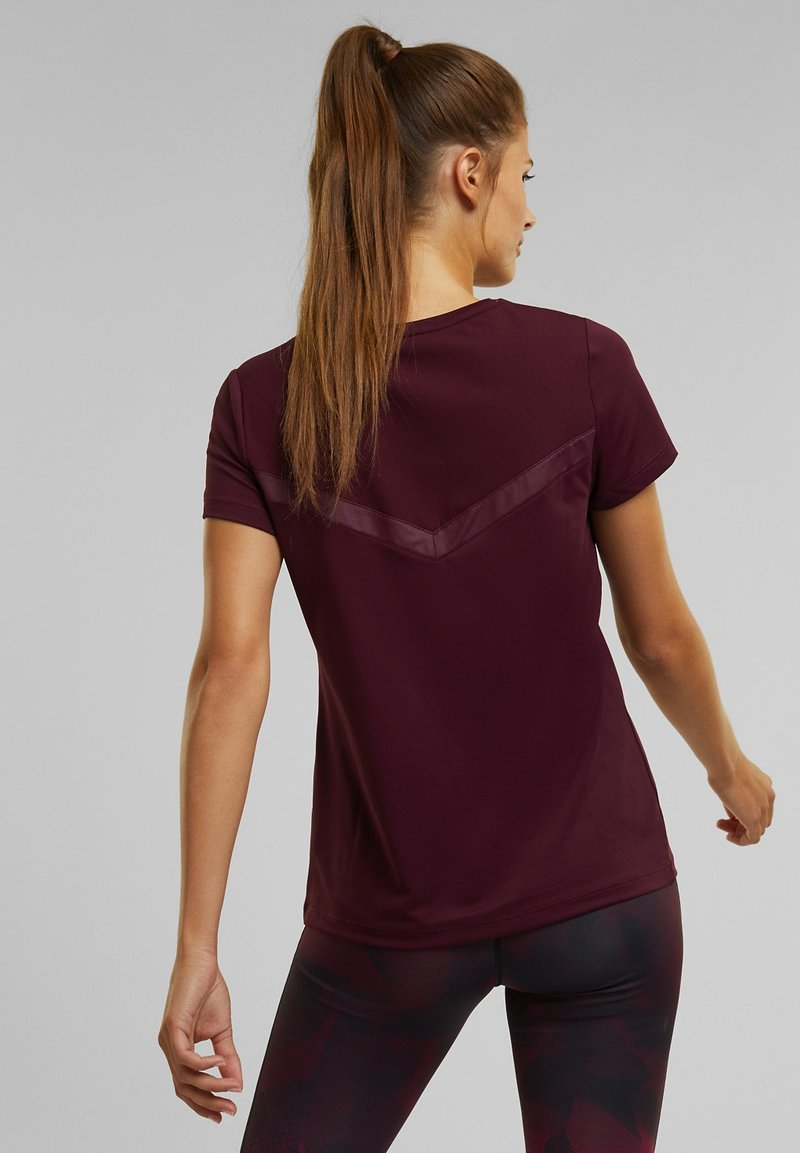 Esprit Sports - Basic T-shirt - bordeaux red