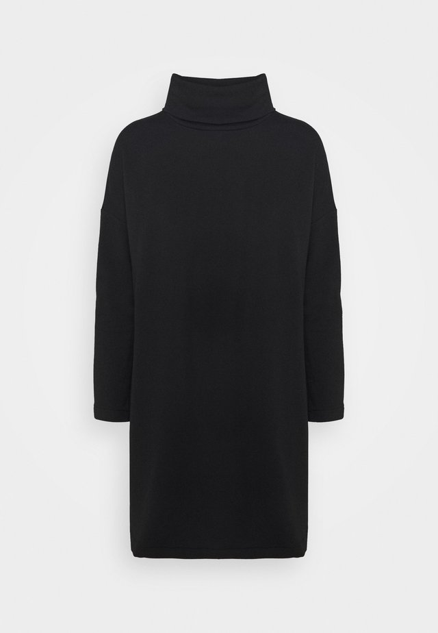 COWL NECK DRESS - Day dress - true black