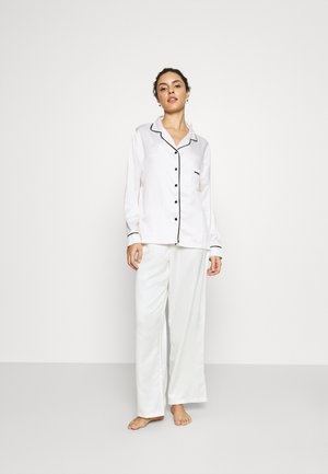 CLAUDIA SHIRT AND TROUSER - Pyjama set - cream/black