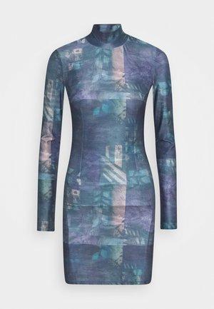 TURTLENECK DRESS - Jersey dress - petrol