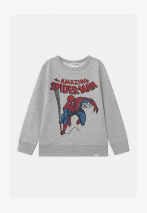 BOYS SPIDERMAN CREW - Collegepaita - light heather grey