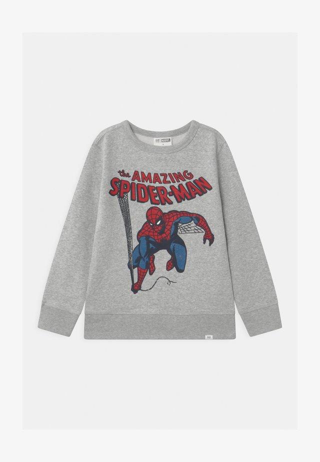 BOYS SPIDERMAN CREW - Sweater - light heather grey