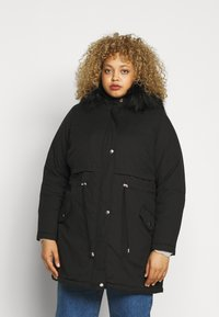 New Look Curves - LI HOODED - Parka - black - 0