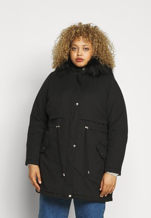 LI HOODED - Parkatakki - black