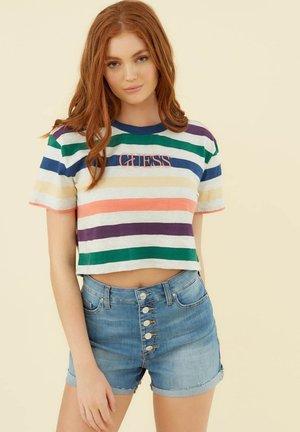 RAYÉ LOGO SUR LE DEVANT - T-Shirt print - fantaisie multicolore