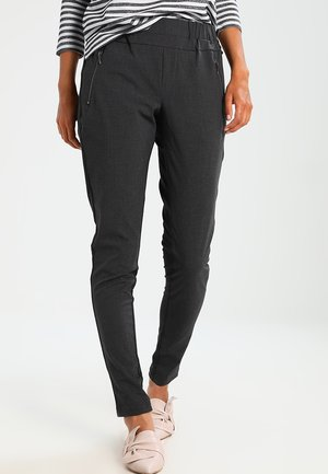 JILLIAN VILJA - Trousers - dark grey melange