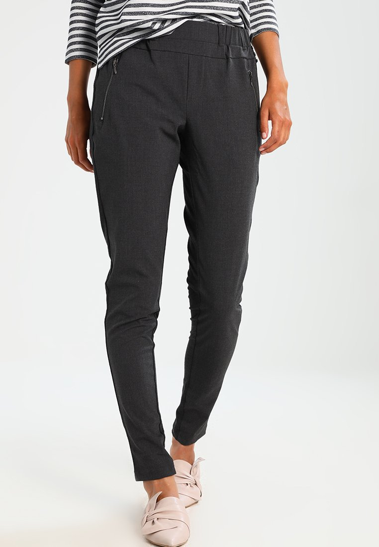 Kaffe - JILLIAN VILJA - Trousers - dark grey melange