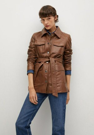 ALPHA-I - Leather jacket - cognac